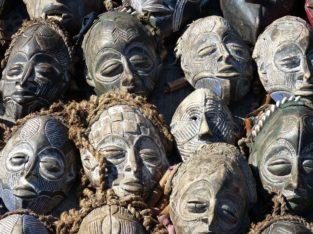 Décoration masques, Afrique du Sud