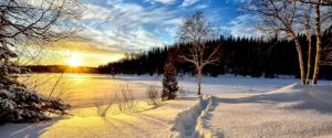 Savoie Pralognan coucher de soleil sur la neige