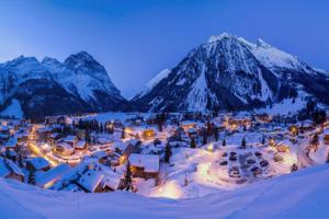 Savoie Pralognan vue de nuit